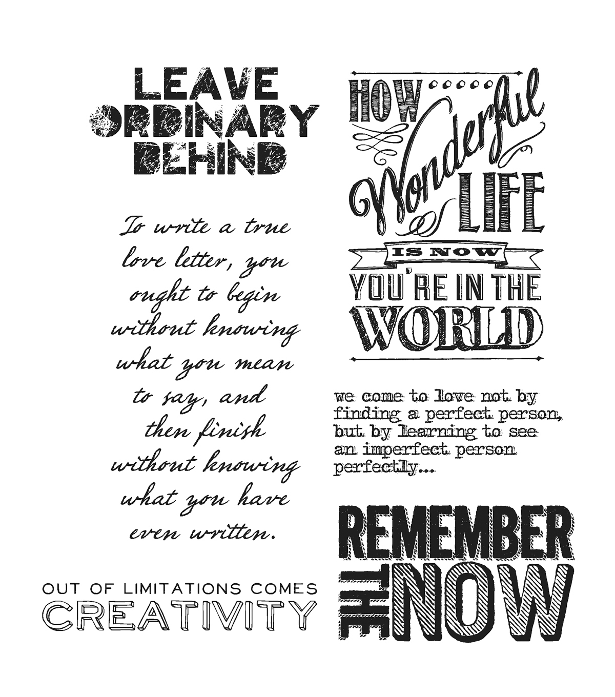 Stampers Anonymous Cling Rubber Stamp Set Random Quotes