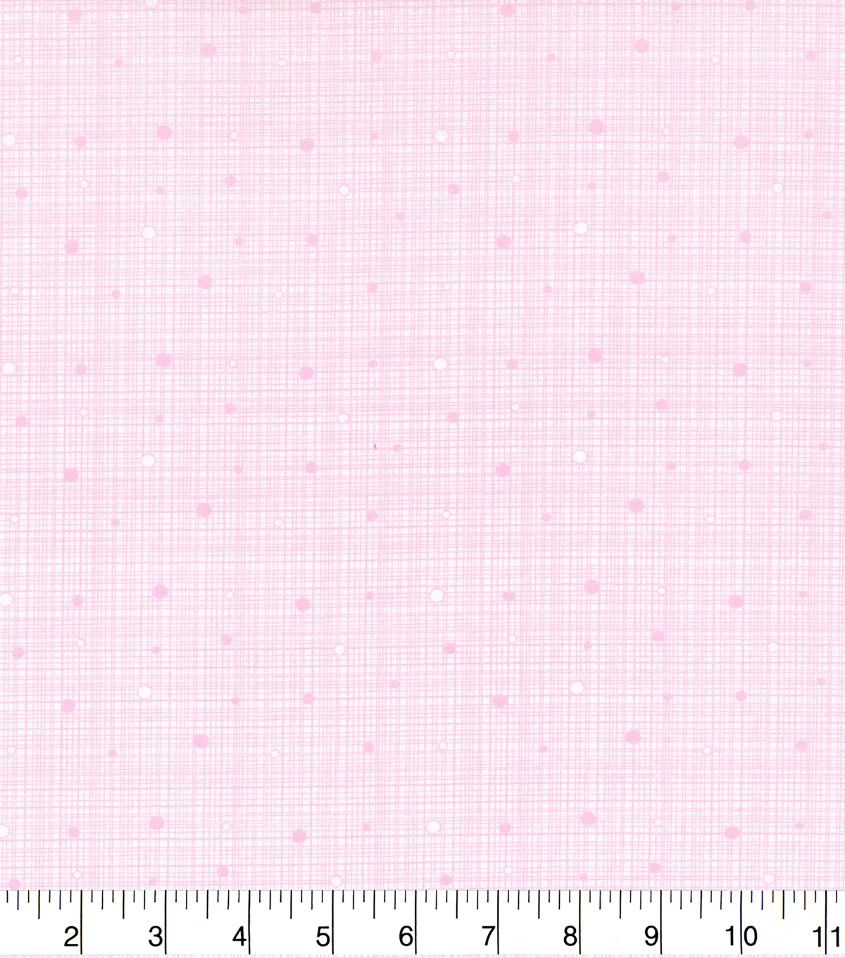 Keepsake Calico Cotton Fabric 43\u0022-Grid Pink with Dots
