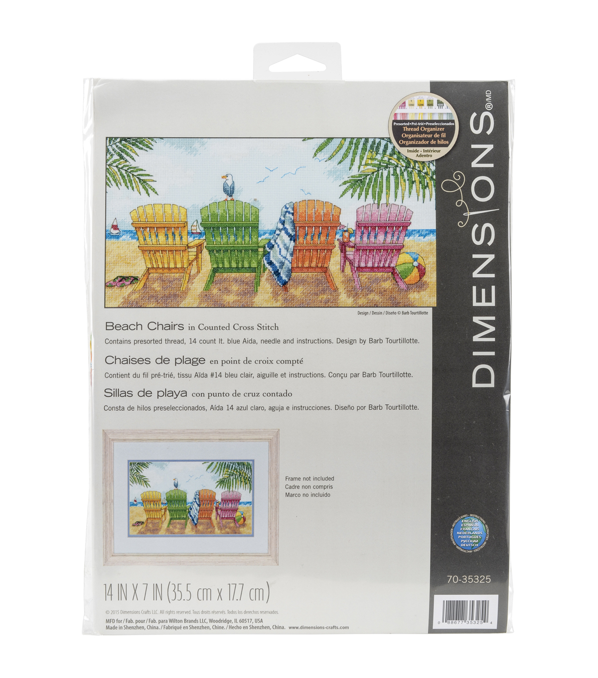 Vervaco Counted Cross Stitch Kit-Beach Chairs