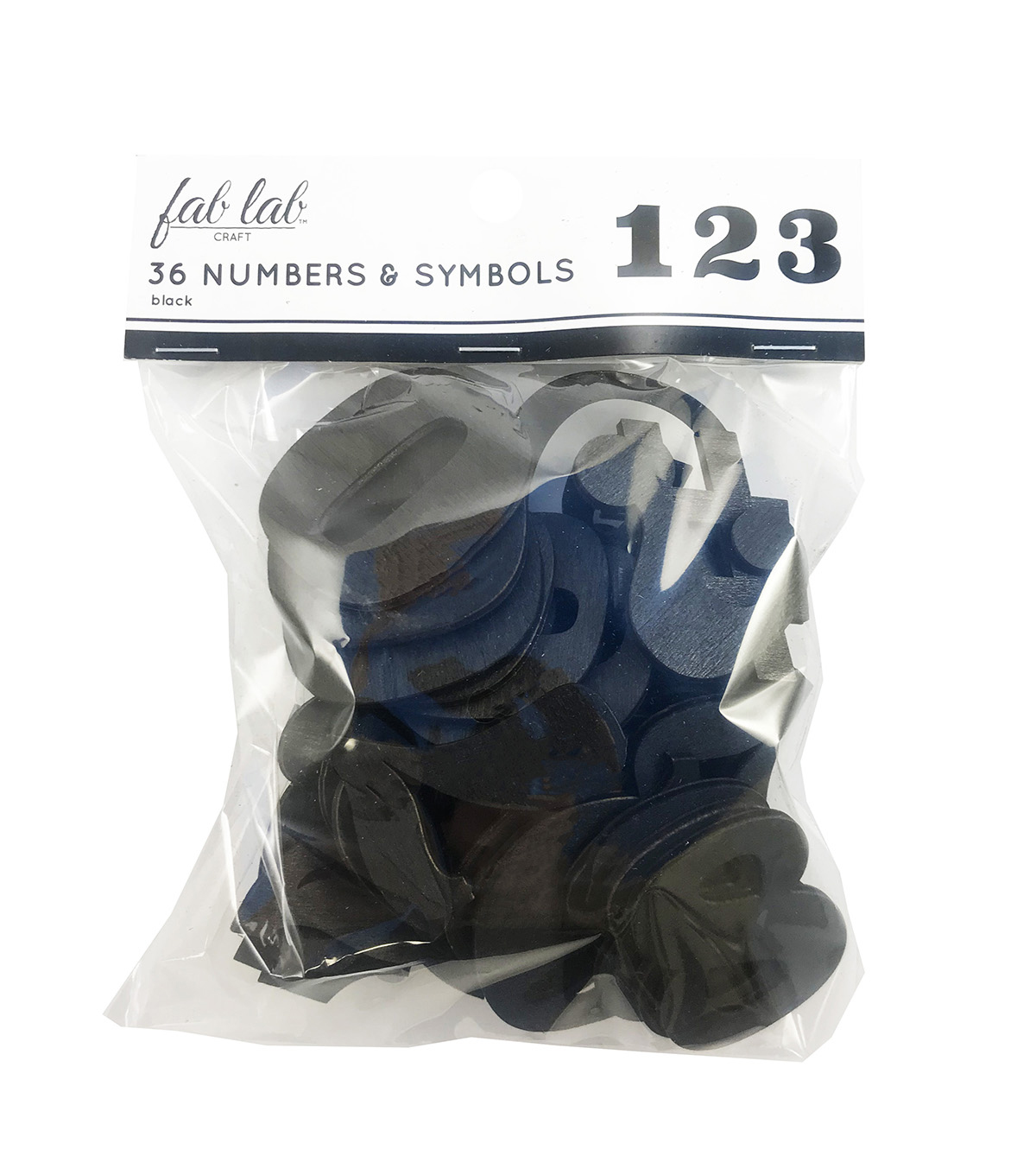Fab Lab Craft 36 pk Numbers & Symbols-Black
