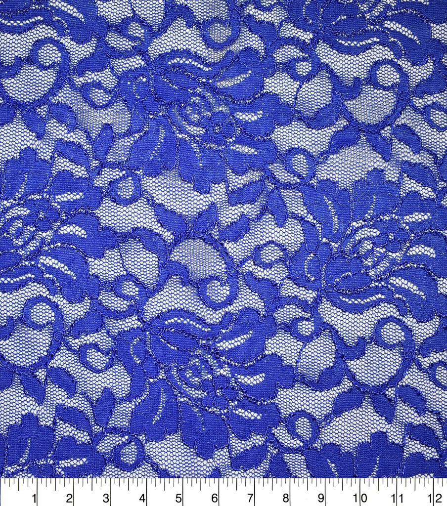 Casa Collection Stretch Foiled Lace Fabric 54\u0027\u0027