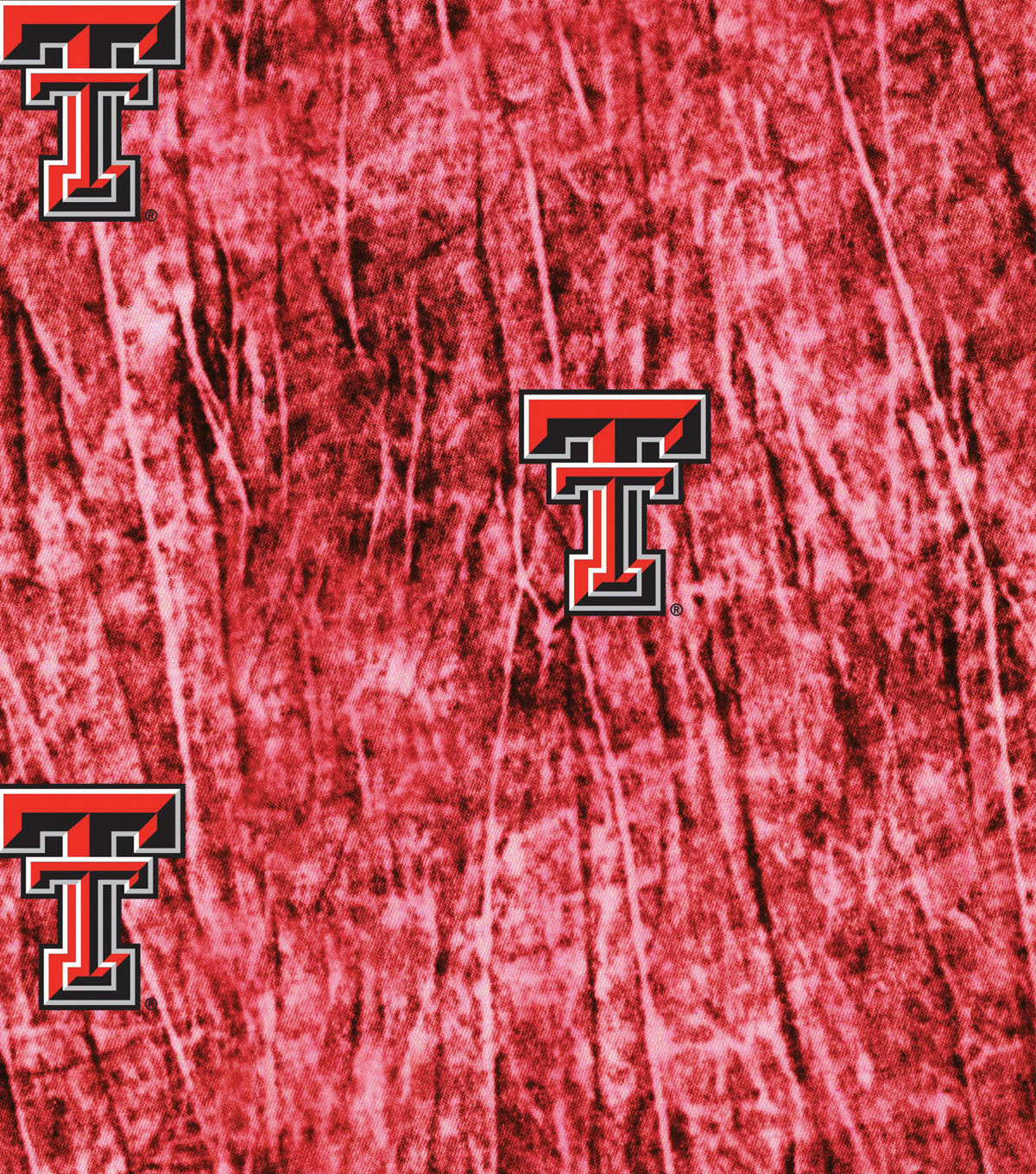 Texas Tech University Red Raiders Cotton Fabric 44\u0022-Tie Dye