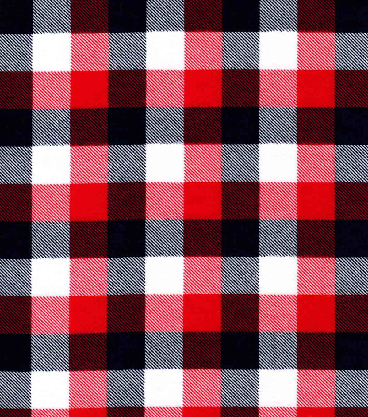 Snuggle Flannel Fabric-Red Blue Buffalo Check