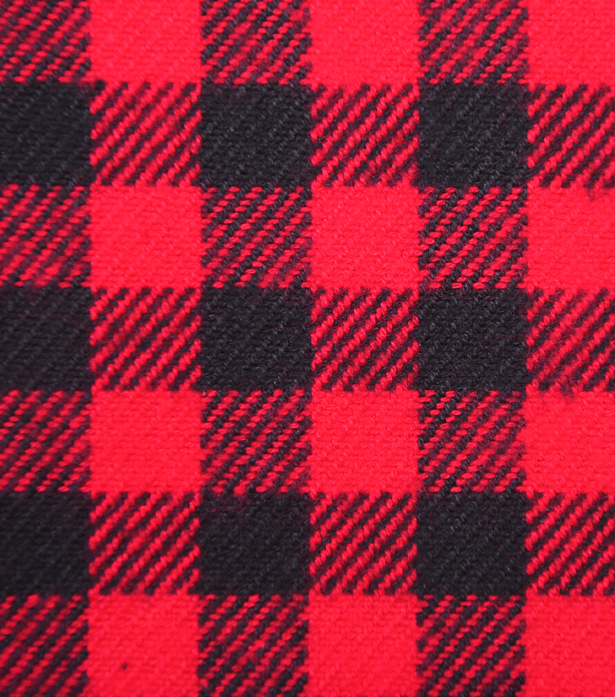 Plaiditudes Brushed Cotton Apparel Fabric -Red & Black Gingham Plaid