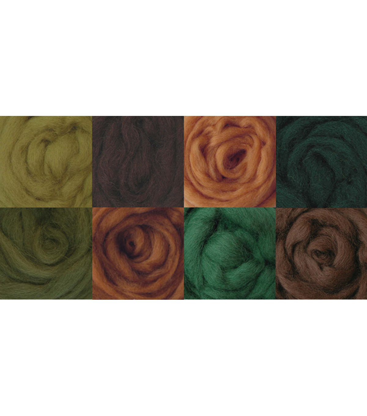 Wistyria Editions Ultra Fine Wool Roving, Woodsy