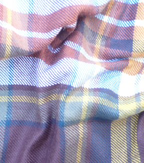 Perfectly Plaid Acrylic Fabric 55\u0022-Maroon & Yellow