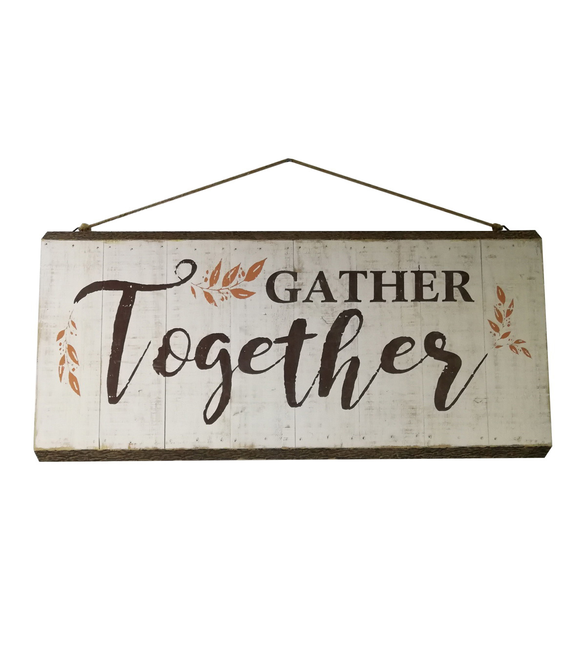 Simply Autumn Bark Wall Decor-Gather Together