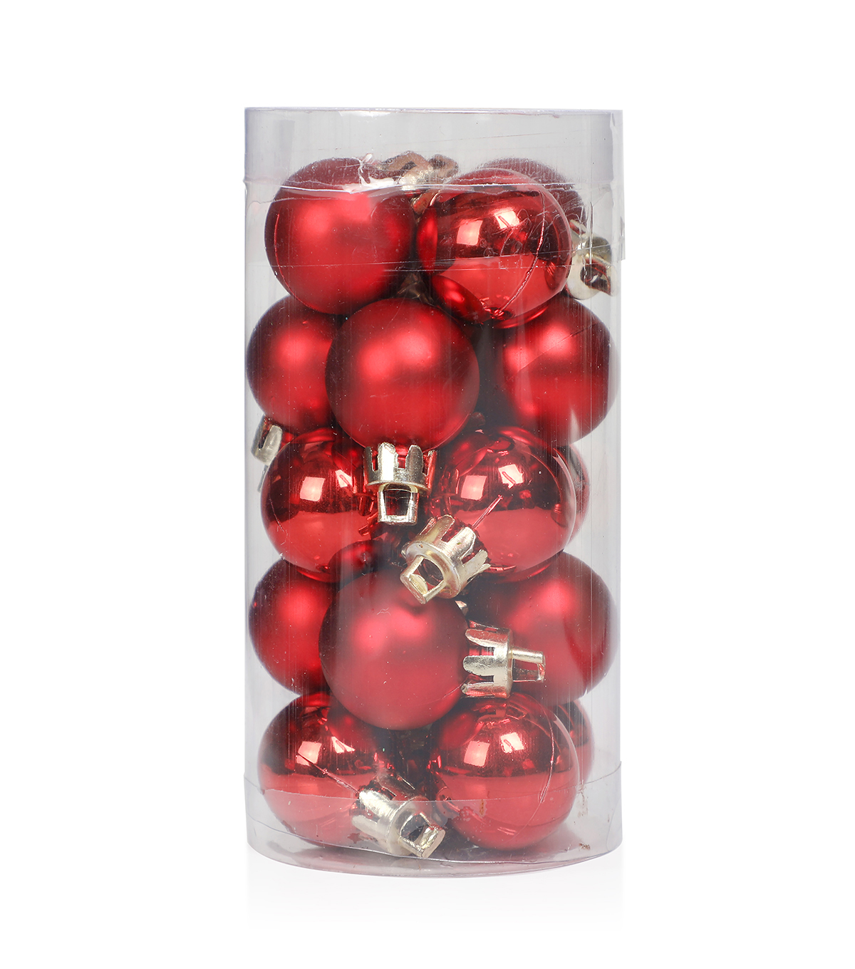 Maker\u0027s Holiday Christmas 20 pk 25 mm Shatterproof Ornaments-Red