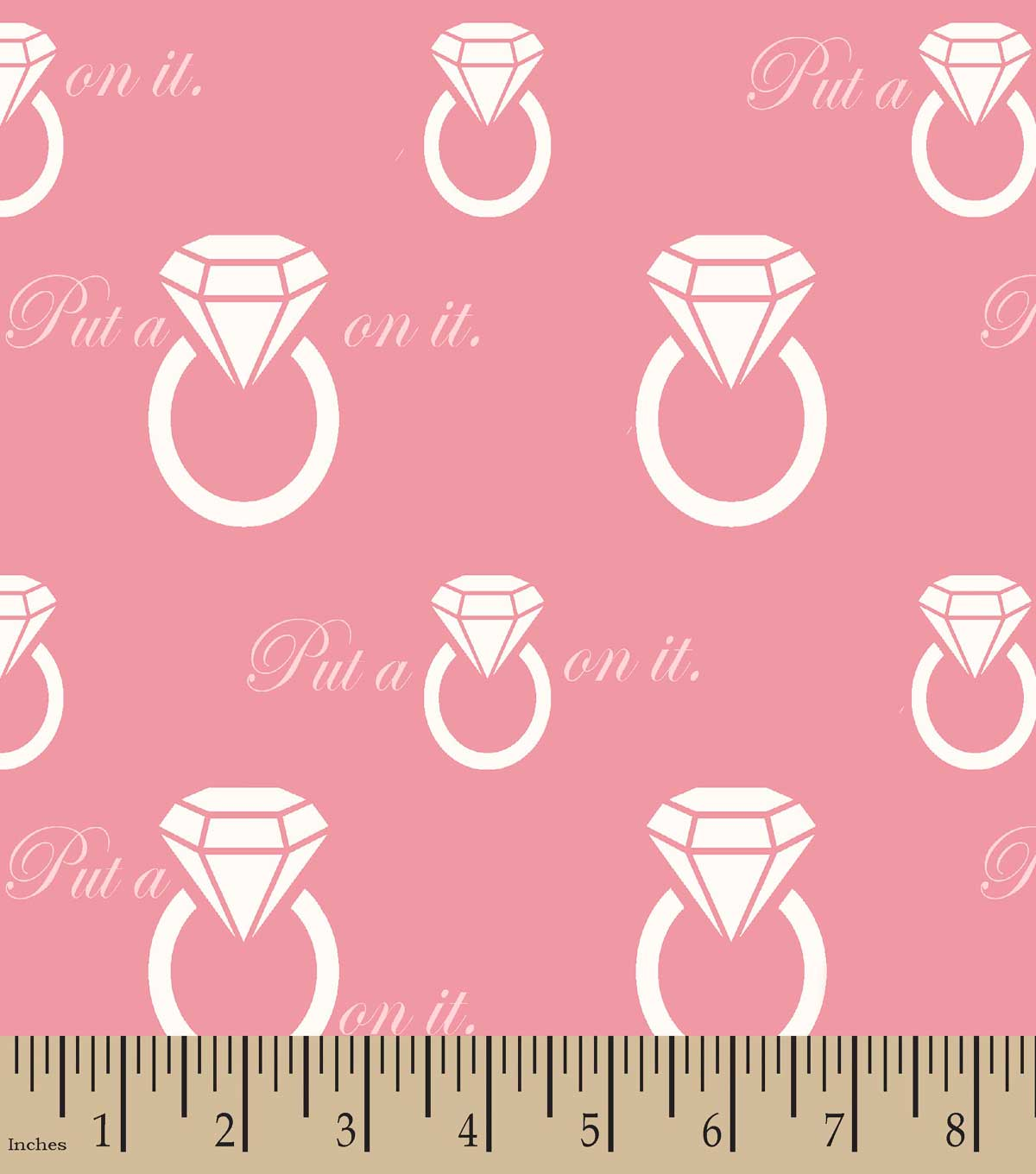 Put a Ring On It Print Fabric