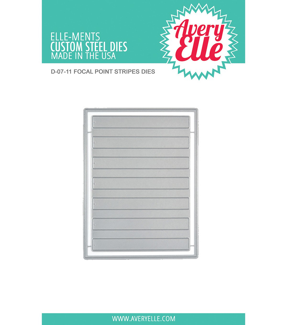 Avery Elle Elle-Ments 2 pk Dies-Focal Point Stripes
