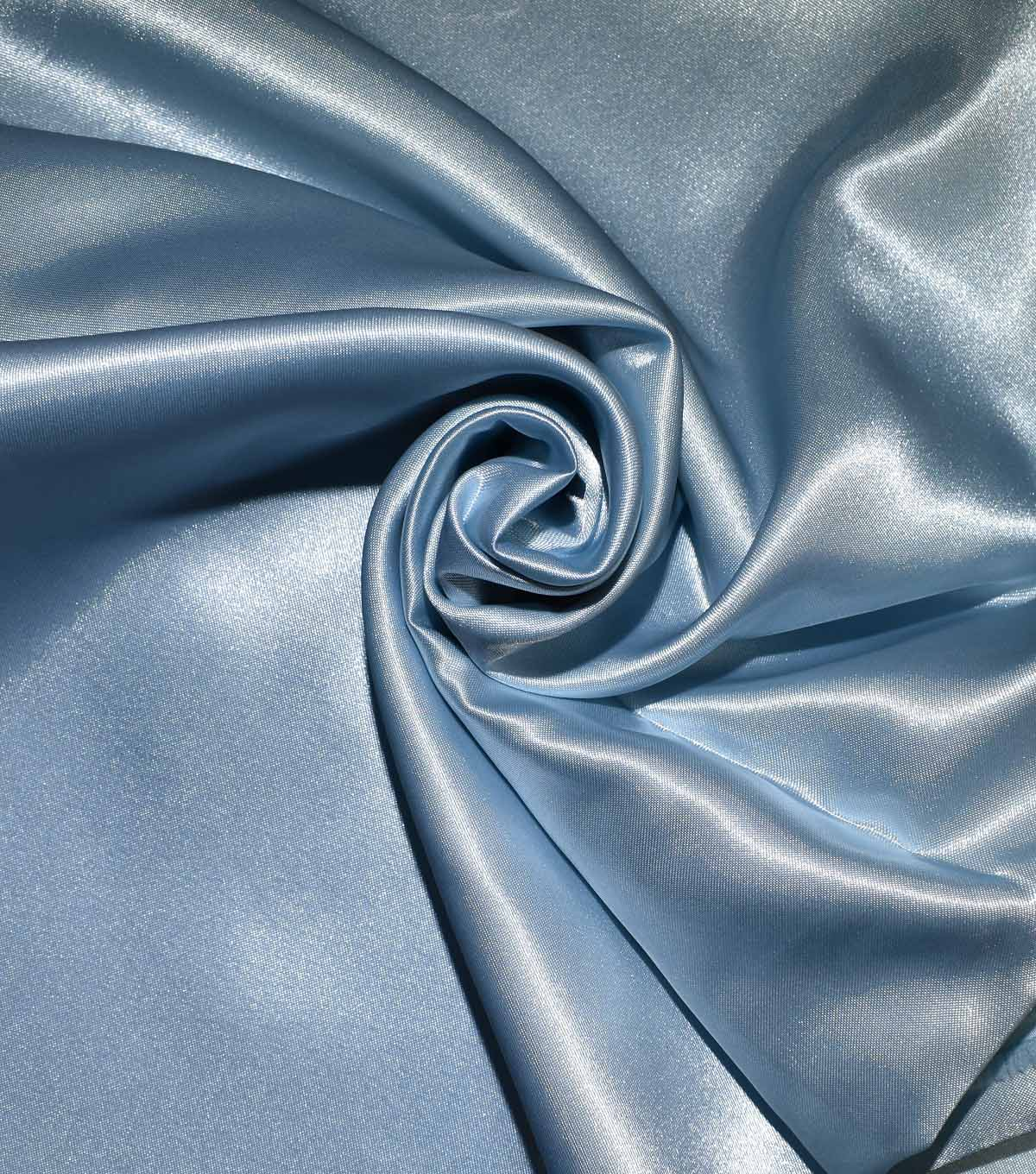 Casa Collection Shiny Satin Fabric, Icy Blue
