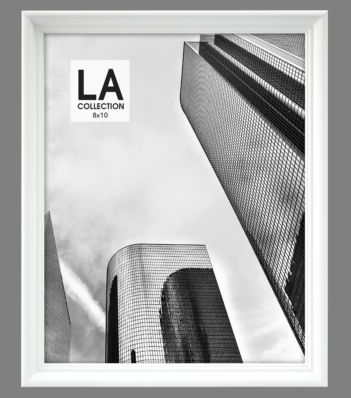 LA Collection Traditional Frame 8x10-White