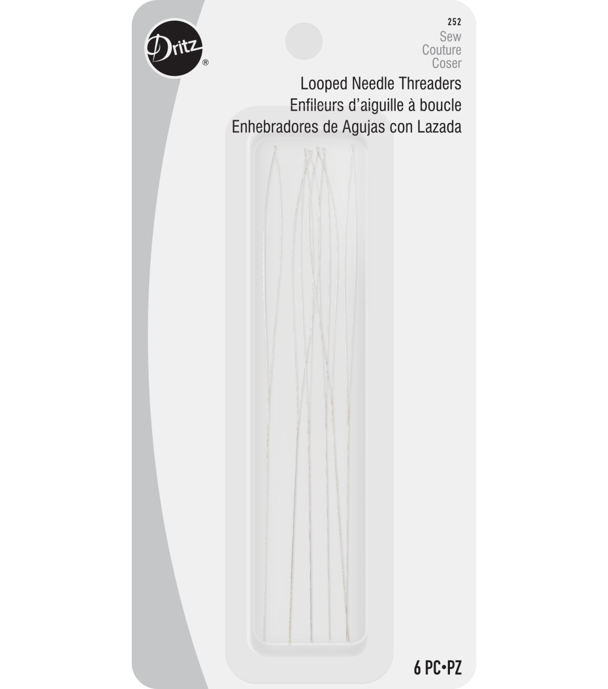 Dritz Looped Needle Threader-6/Pkg