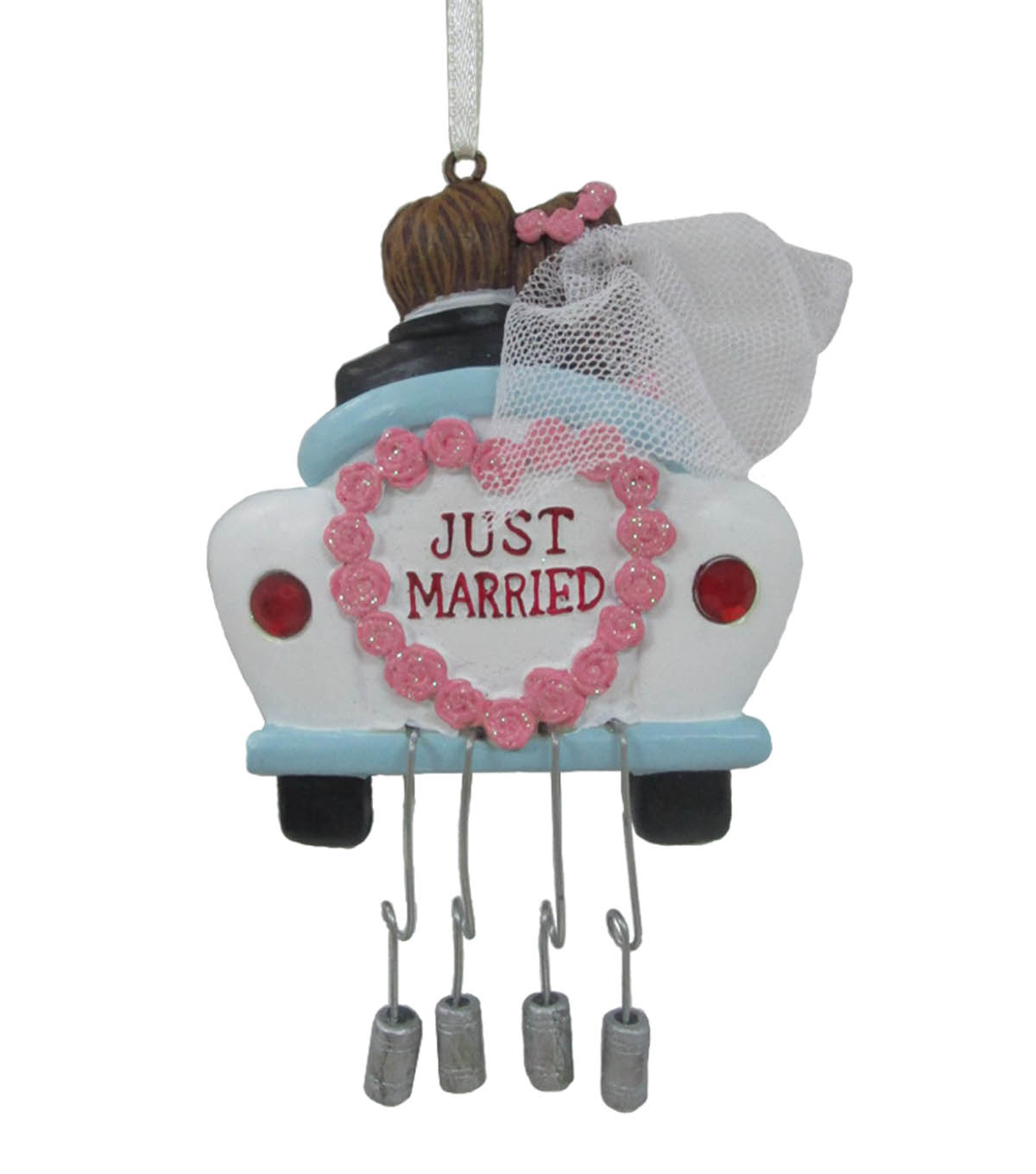 Maker\'s Holiday Christmas Car with Cans Ornament-Just Married | JOANN