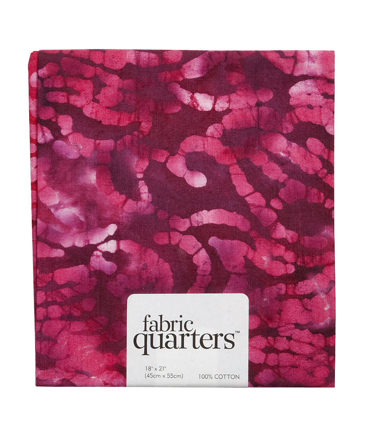 Fabric-Quarters Assorted Batik Fabric-Pink