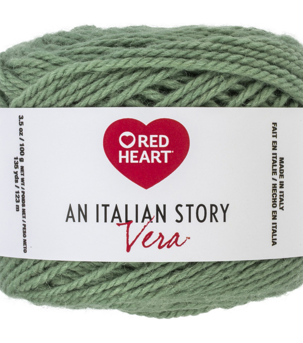Red Heart An Italian Story Vera Yarn, Salvia
