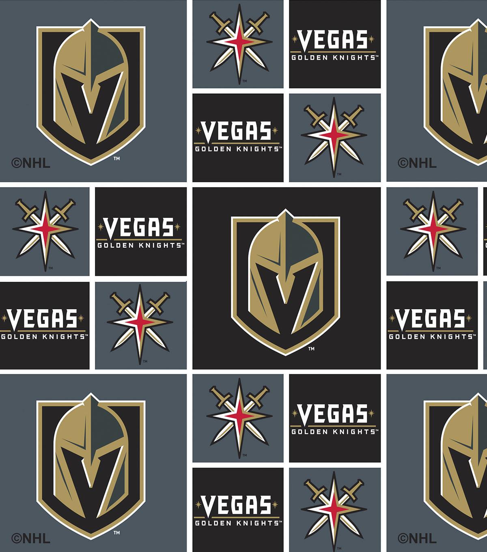 Vegas Golden Knights Cotton Fabric Block Joann