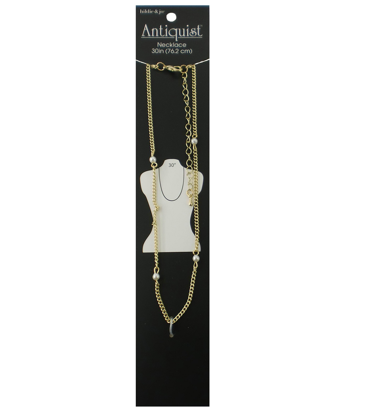 hildie & jo Antiquist 30\u0027\u0027 Wrap Gold Necklace-Small Pearls