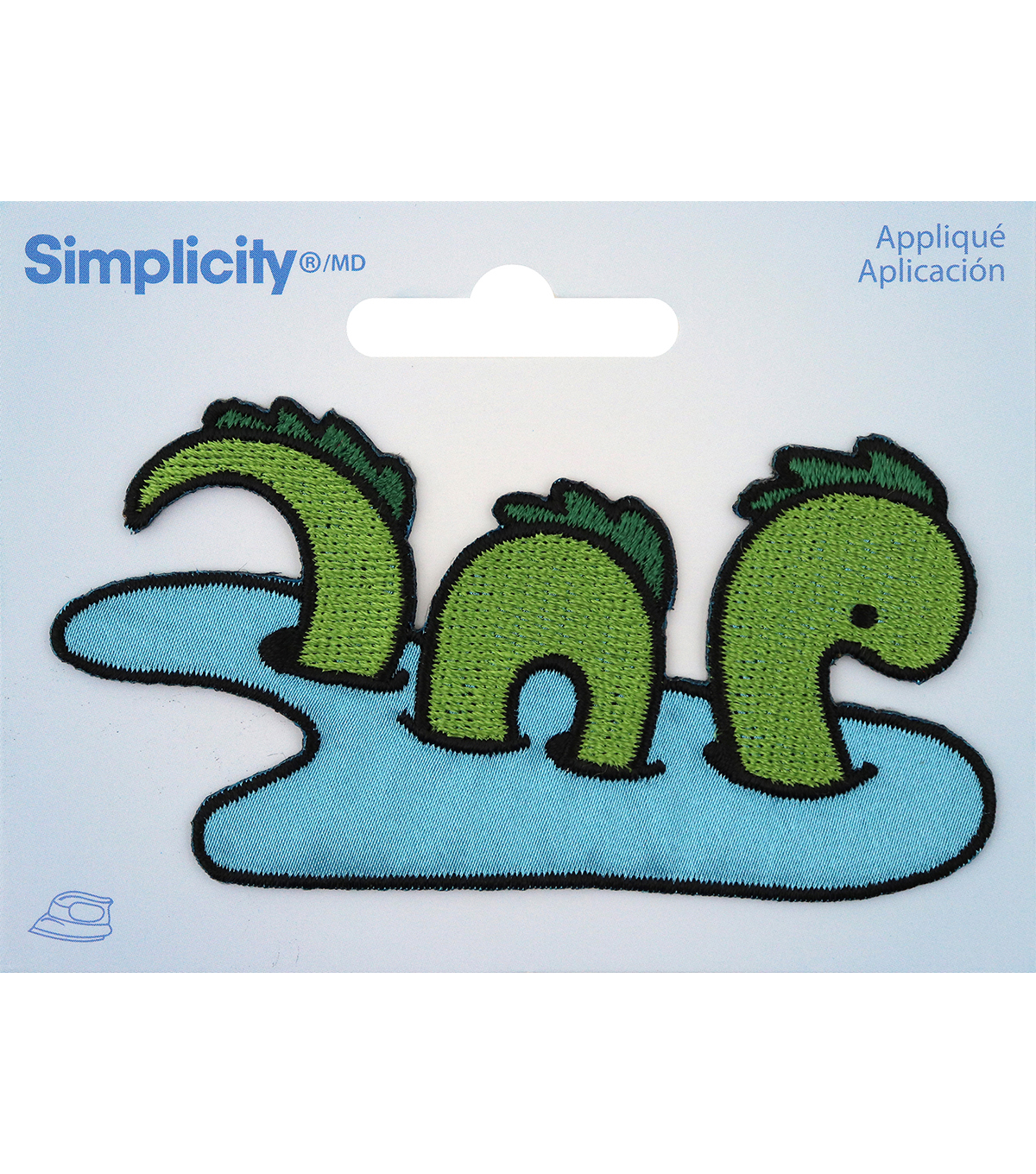 Simplicity Green Loch Ness Monster in Water Iron-on Applique