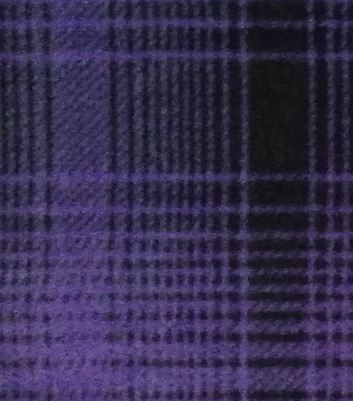 Specialty Fleece Fabric-Purple Mica & Black Plaid