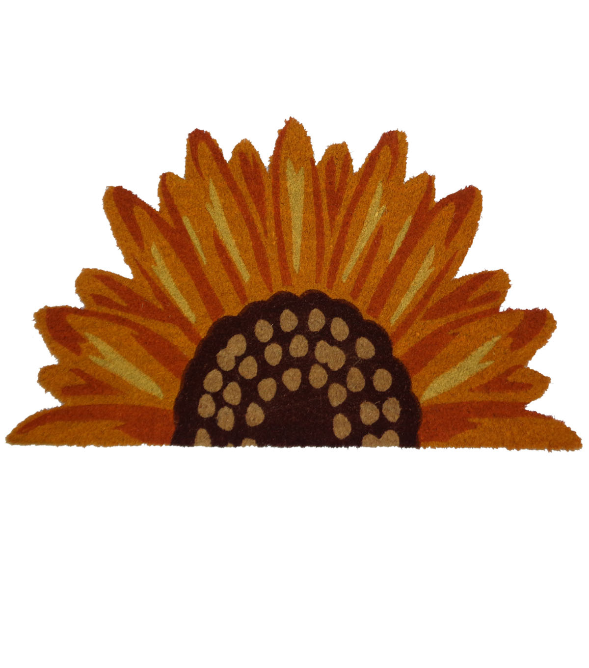 Simply Autumn Sunflower Shaped Coir Mat