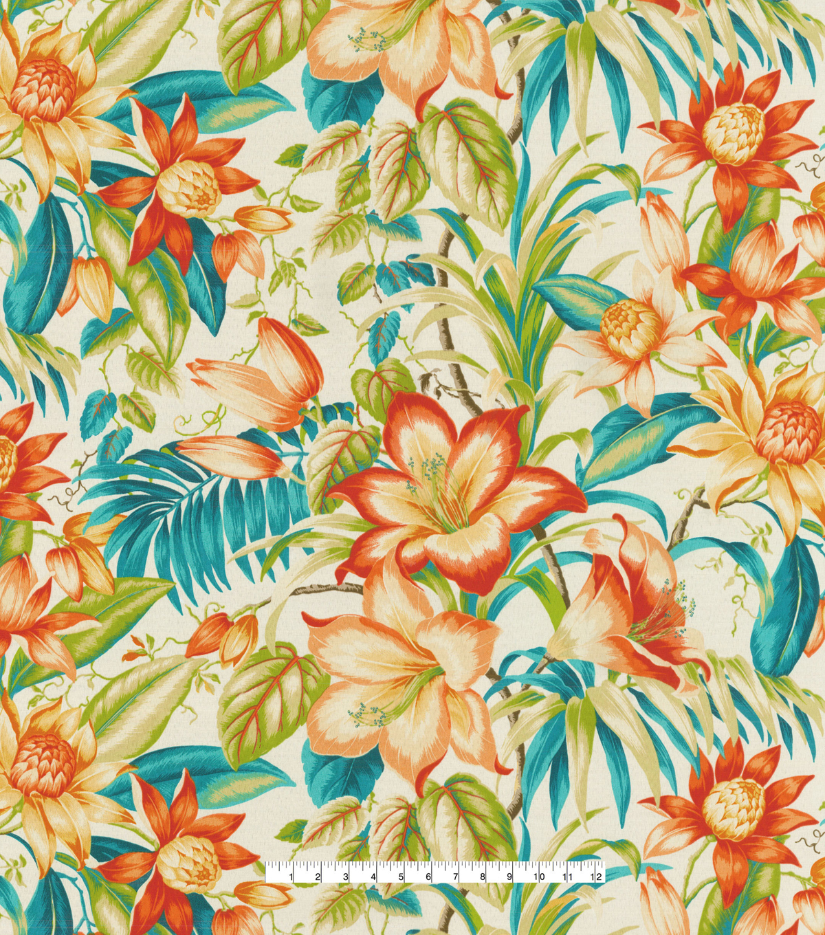Tommy Bahama Outdoor Fabric-Botanical Glow Tiger Lily