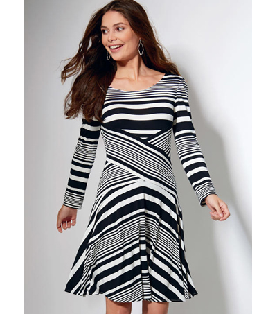 McCall\u0027s Pattern M7538 Misses\u0027 Crossover-Band Top & Dresses