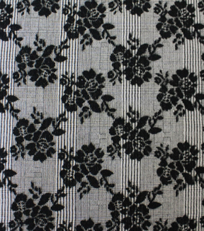 Fashion Jacquard Fabric -Floral Plaid