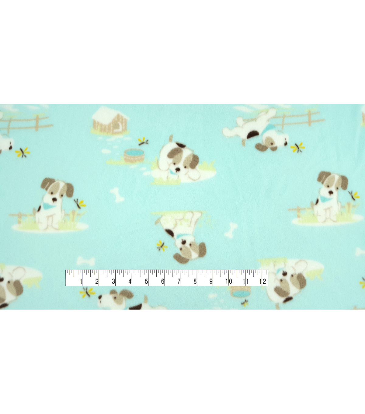 Micro Fleece Fabric 59\u0022-Sweet Puppy Blue