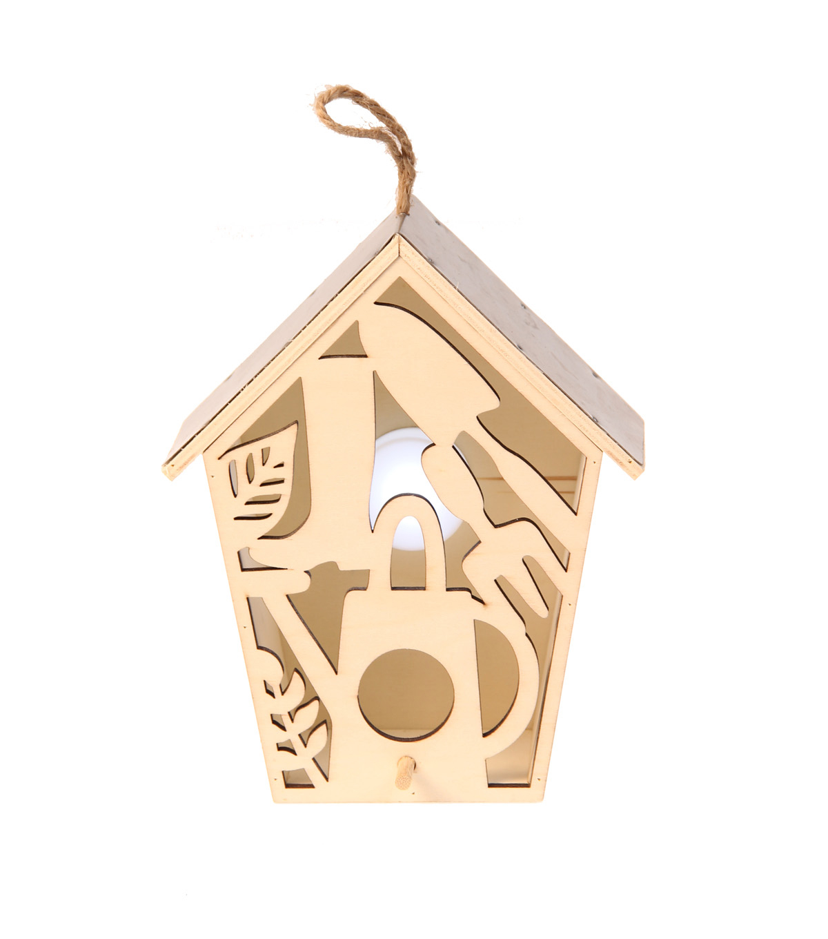 Simply Spring Small Birdhouse with Laser Cut Garden Tools