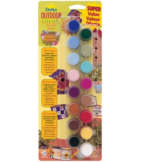 Acrylic Super Value Paint Set-16 Colors