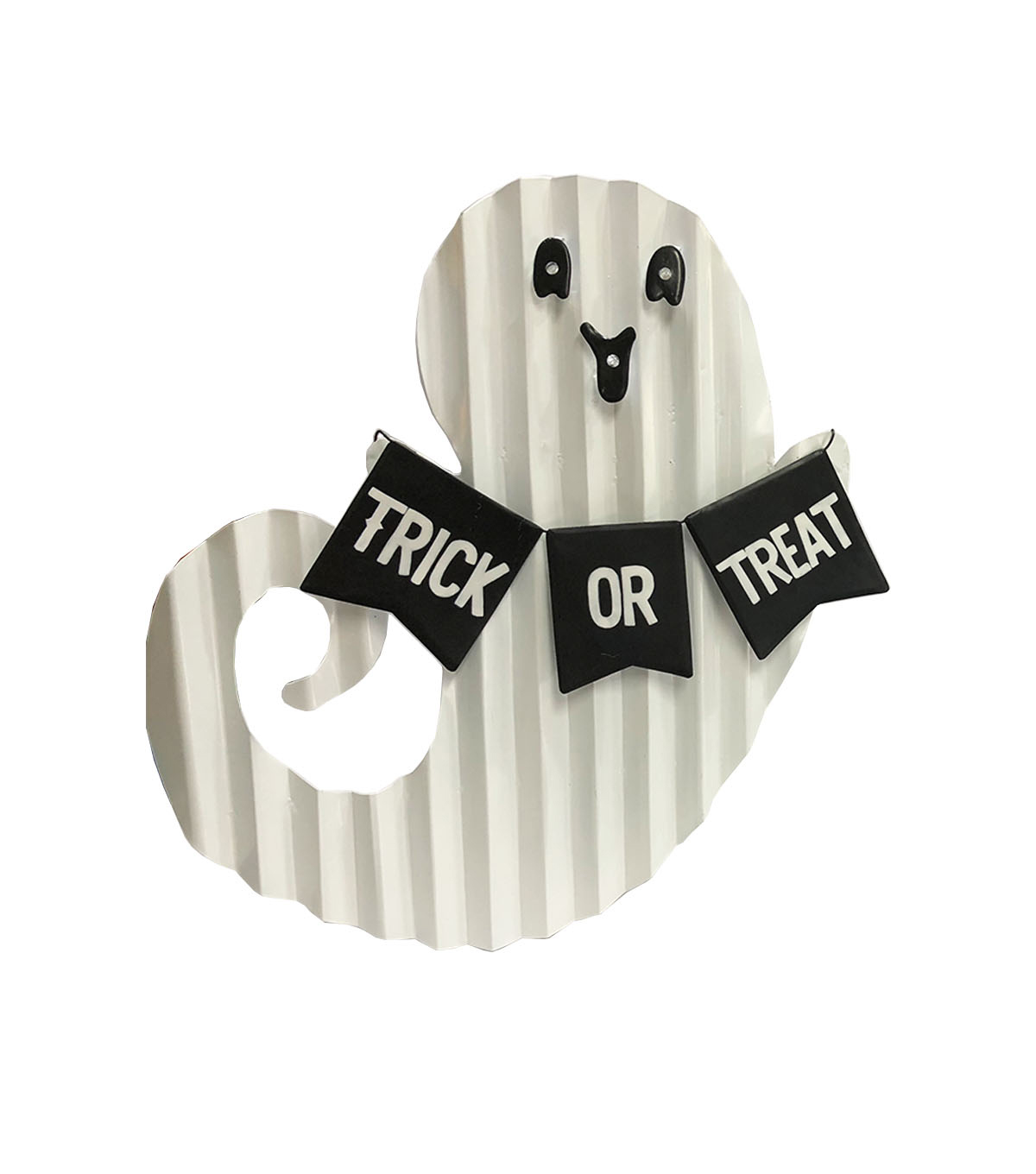 Maker\u0027s Halloween Ghost Porch Sitter with LED Lights-Trick or Treat
