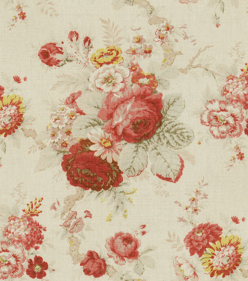Waverly Multi Purpose Decor Fabric 54u0022 Norfolk Rose