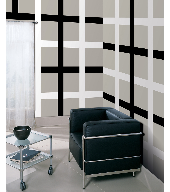 Perfect Wall Pops Black Jack Stripe Decals, 32 Feet