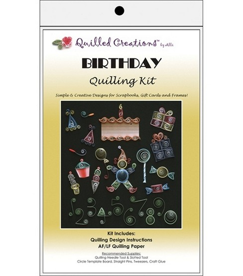 Quilled Creations Quilling Kits-Birthday