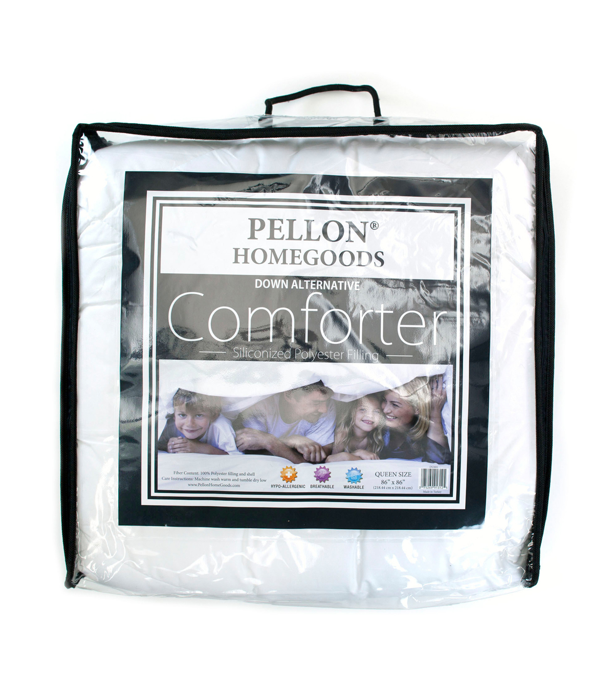 Pellon Queen Comforter, White 86\u0022 x 86\u0022