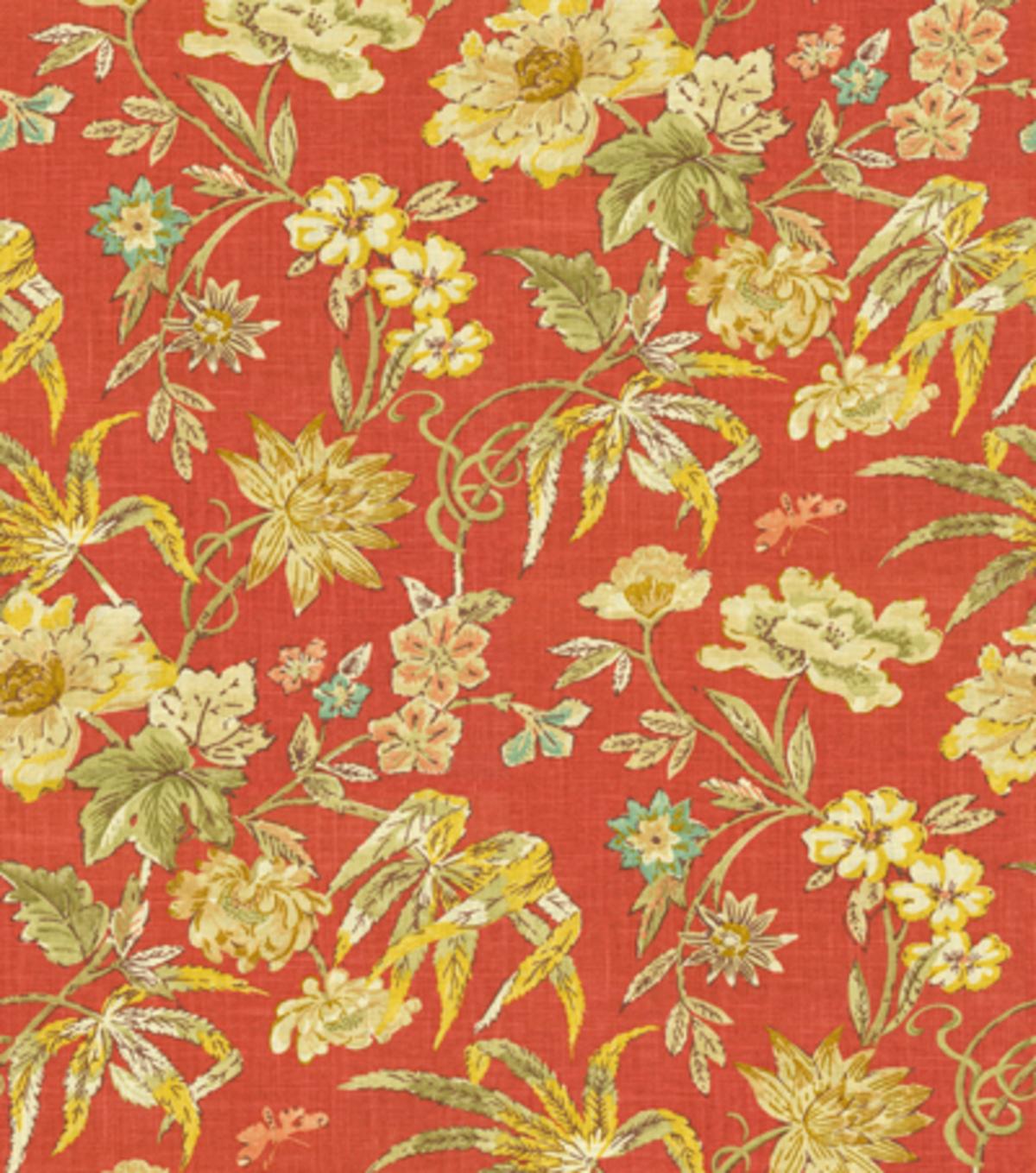 Waverly Upholstery Fabric Honeymoon/Berry