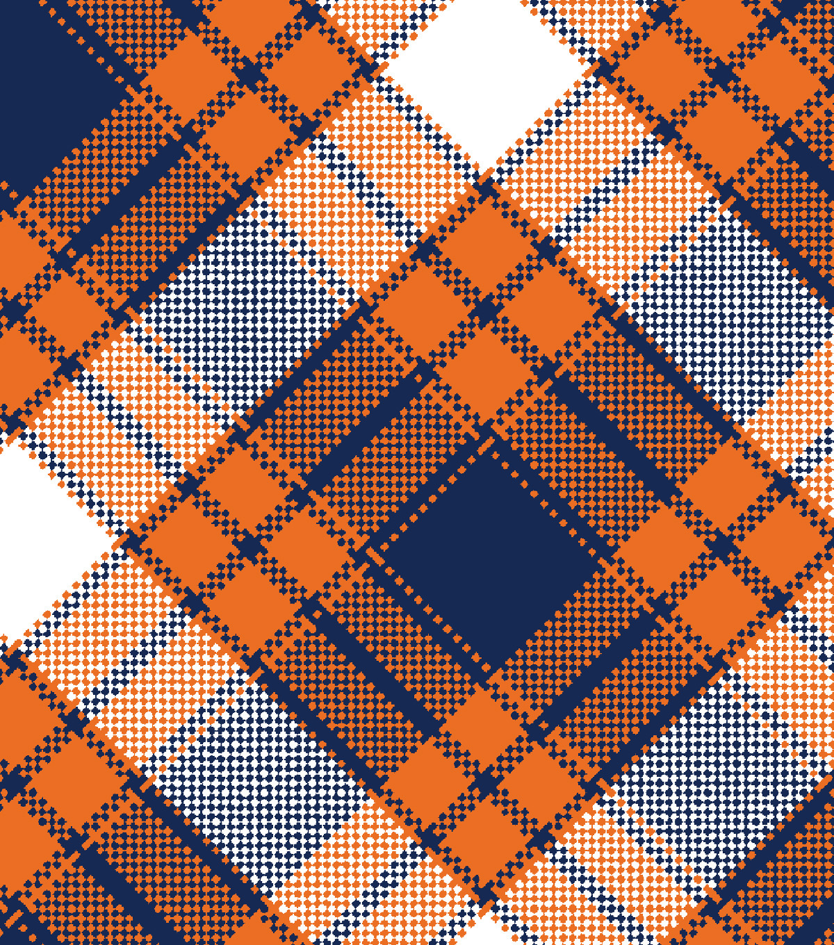 Snuggle Flannel Fabric -Annie Plaid Orange
