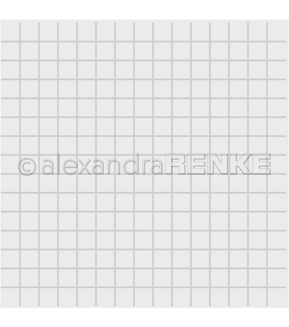 Alexandra Renke Embossing Folder-Square Grid