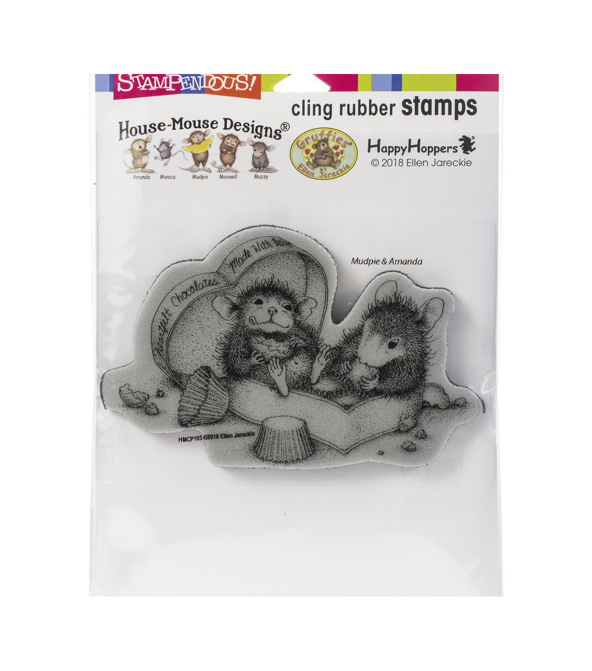 Stampendous House Mouse Cling Stamp-Heartfelt Chocolates