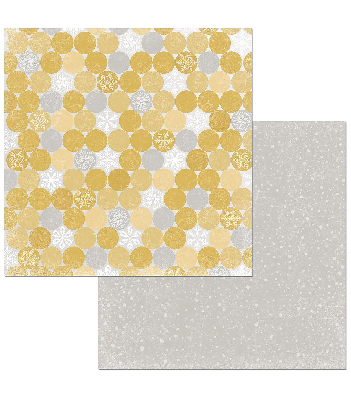 Christmas In The Village Double-Sided Cardstock 12\u0022X12\u0022-Snowflakes