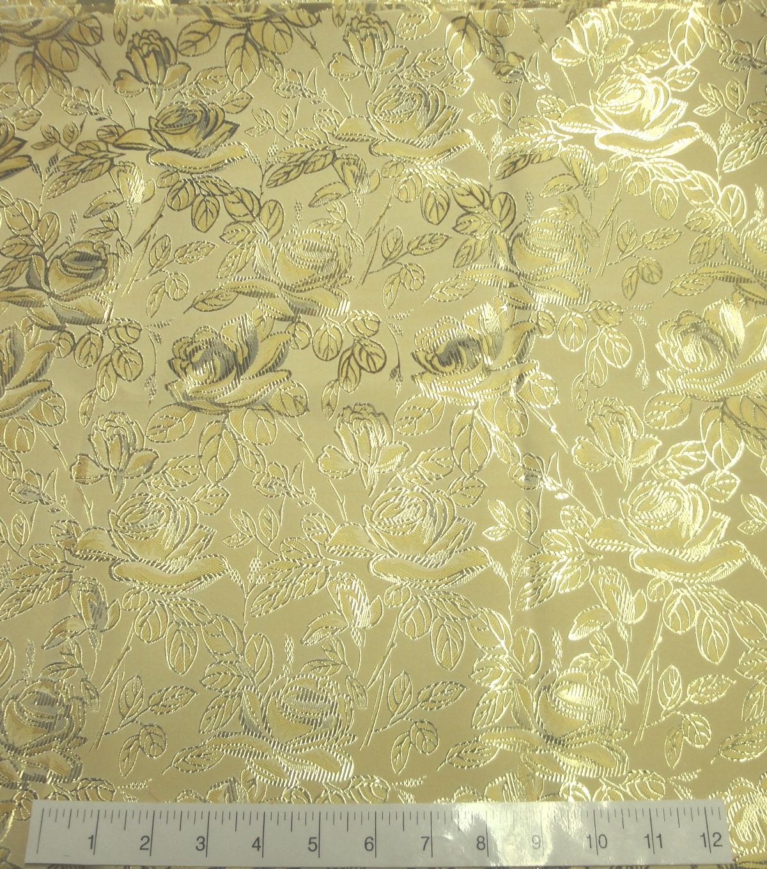 37a7b2659 Glitterbug Brocade Fabric -Yellow Rose