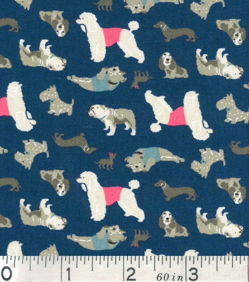 Novelty Cotton Fabric-Dogs A/O