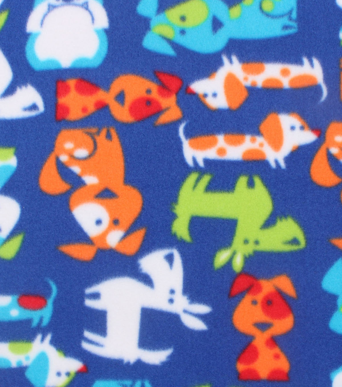 Blizzard Fleece Fabric 59\u0022-Bright Doggies