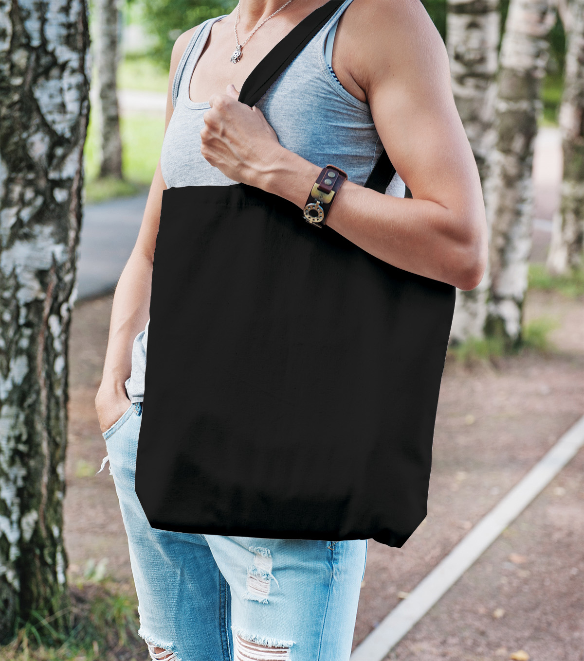 Large Tote-Black
