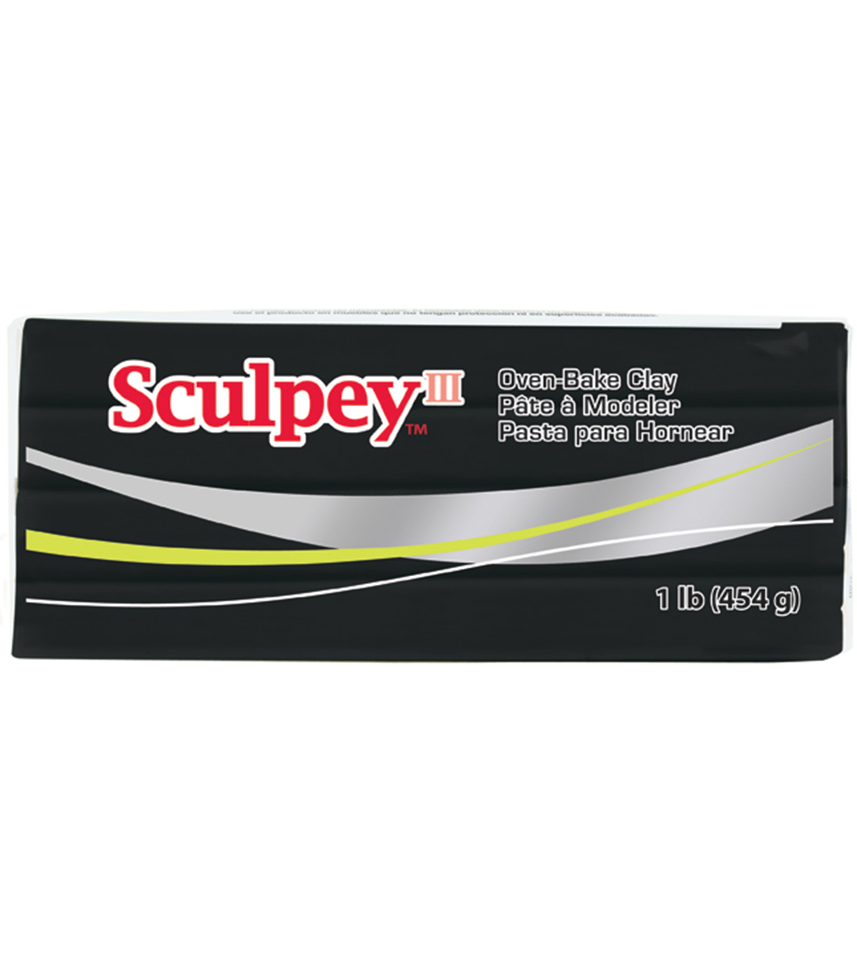 Sculpey III One Pound Packages, Black
