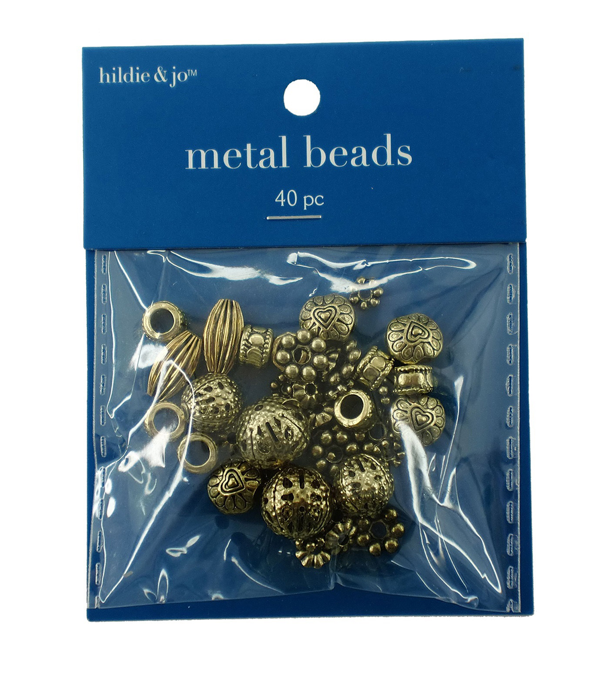 Darice Big Value! Cast Spacer Beads-40PK/Gold