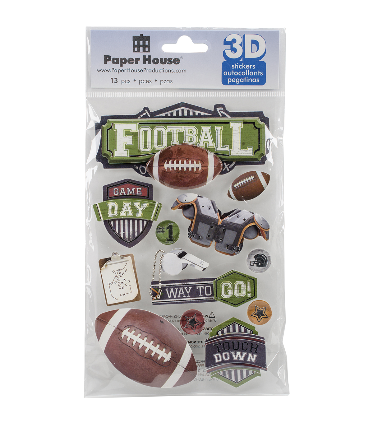 Paper House 3D Stickers-Football #2
