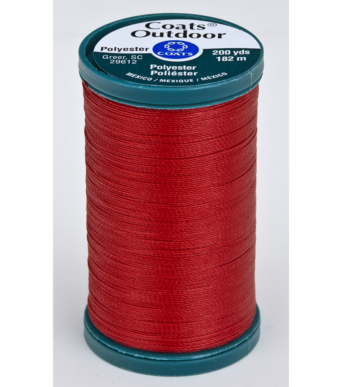 Coats & Clark Outdoor 200yd Thread, Coats Outdoor 200yd Cherry Red