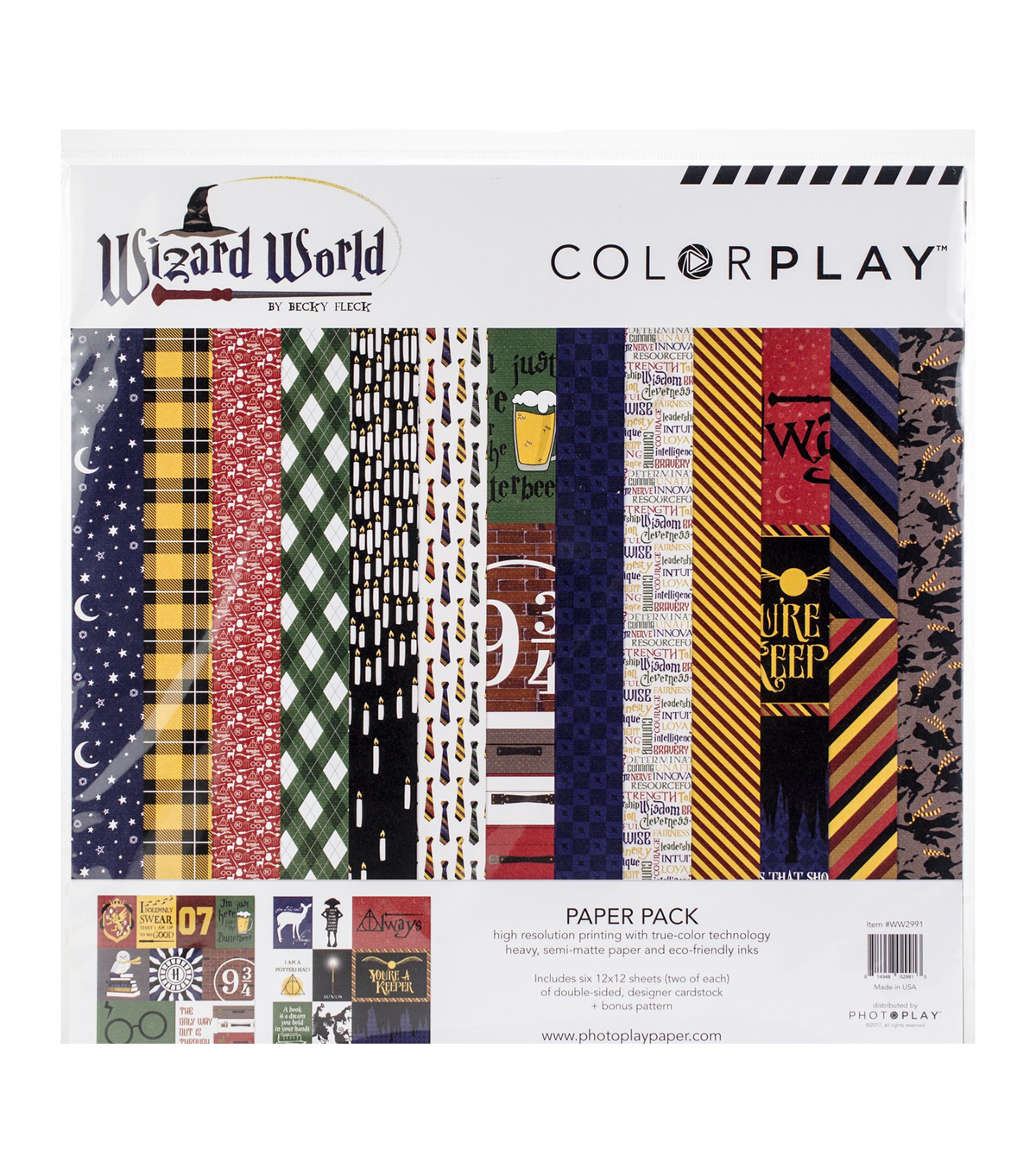 Photo Play Paper ColorPlay Wizard World Becky Fleck Collection Pack